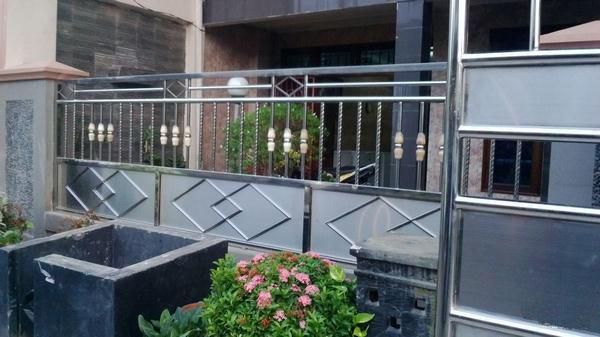 Pagar Rumah Minimalis Stenlis  pagar stainless cv pusaka jaya garut